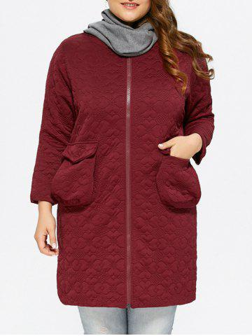 Buy Zip Up Pocket Padded Coat