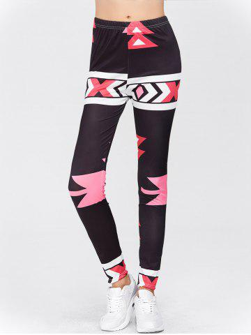 Outfits High Waisted Printed Leggings - M RED Mobile