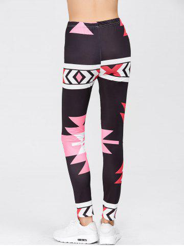 Shops High Waisted Printed Leggings - M RED Mobile