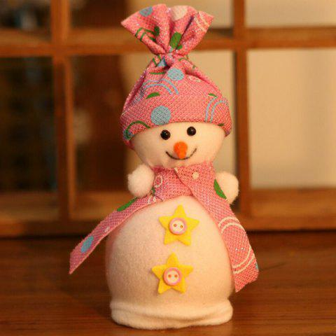 Affordable Christmas Ornament Supplies Snowman Pendant Apple Candy Bag - PINK  Mobile