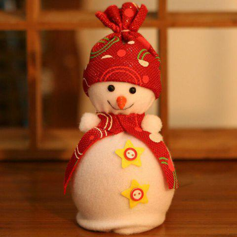 New Christmas Ornament Supplies Snowman Pendant Apple Candy Bag RED