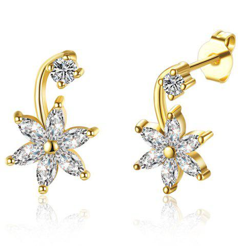 Outfits Rhinestone Floral Earrings