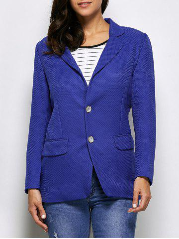 Latest Two Button Textured Blazer With Pockets