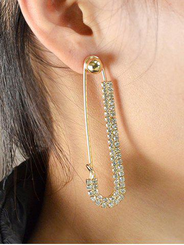 Outfit ONE PIECE Rhinestone Pin Earring GOLDEN
