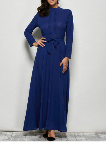 Sale Maxi Dress with Bowknot Lace Up