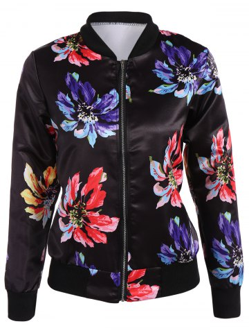 Sale Flower Bomber Jacket