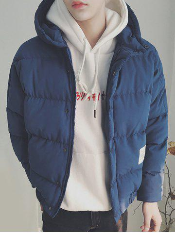 Best Zip Up Patch Design Hooded Puffer Jacket