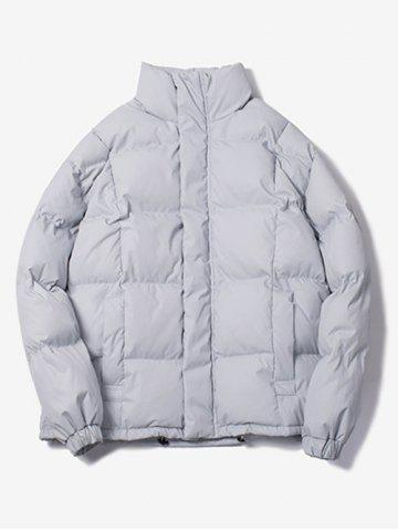 New Stand Collar Zip Up Cartoon Quilted Jacket