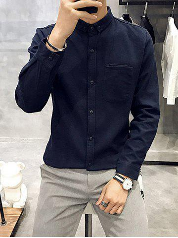 Store Button Down Long Sleeve Pocket Shirt