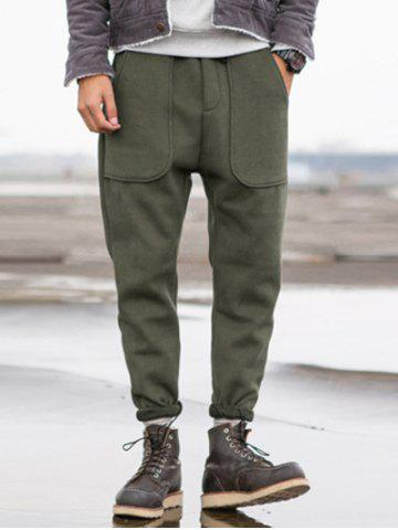 Hot Taper Fit Drawstring Waist Pocket Pants