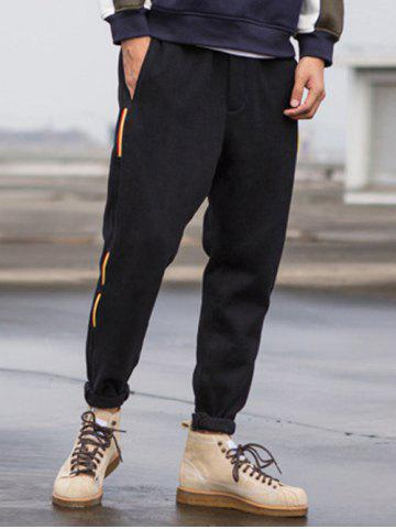 Discount Taper Fit Drawstring Waist String Panel Sweatpants