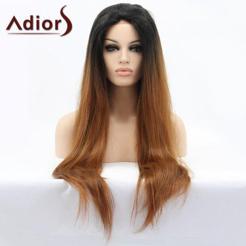 Sale Adiors Hair Color Mixed Long Straight Lace Front Synthetic Wig - COLORMIX  Mobile