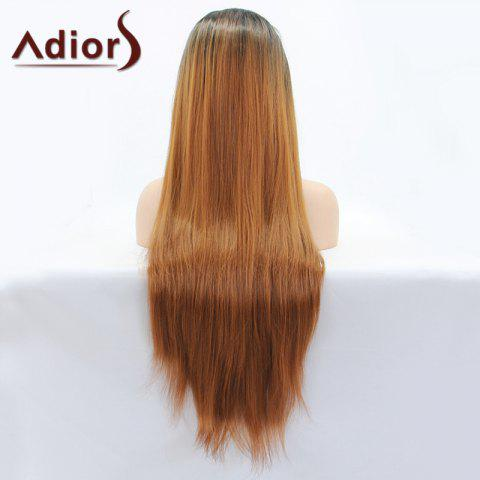 Store Adiors Hair Color Mixed Long Straight Lace Front Synthetic Wig - COLORMIX  Mobile