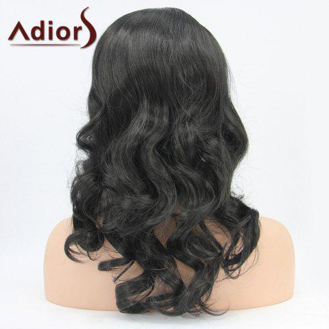 Shop Adiors Hair Medium Wavy Lace Front Synthetic Wig - BLACK  Mobile