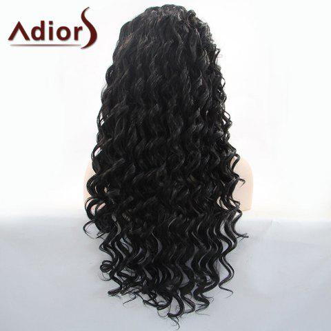New Adiors Hair Gorgeous Long Curly Lace Front Synthetic Wig - BLACK  Mobile