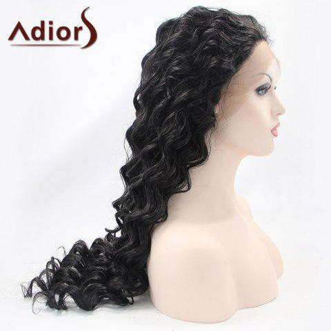 Outfits Adiors Hair Gorgeous Long Curly Lace Front Synthetic Wig - BLACK  Mobile