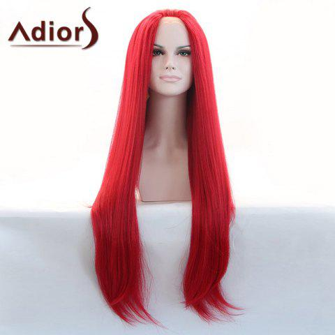 Outfits Adiors Hair Gorgeous Long Straight Lace Front Synthetic Wig - RED  Mobile