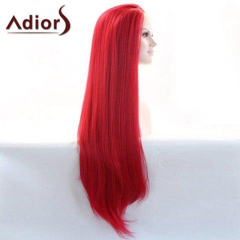 New Adiors Hair Gorgeous Long Straight Lace Front Synthetic Wig - RED  Mobile