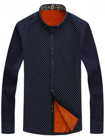 Outfits Tiny Patterned Flocking Button Down Shirt