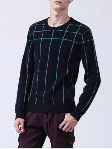 Shop Long Sleeves Striped Crew Neck Sweater