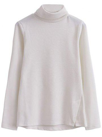 Online Turtle Neck Front Furcal Sweater