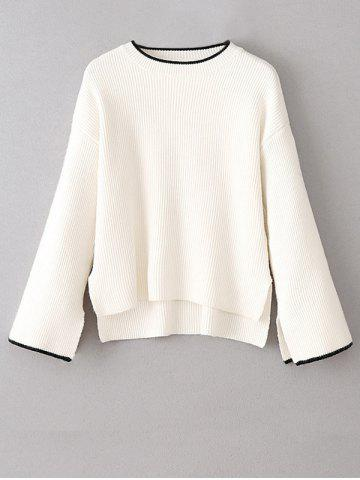Shops Side Slit High-Low Oversized Pullover Sweater