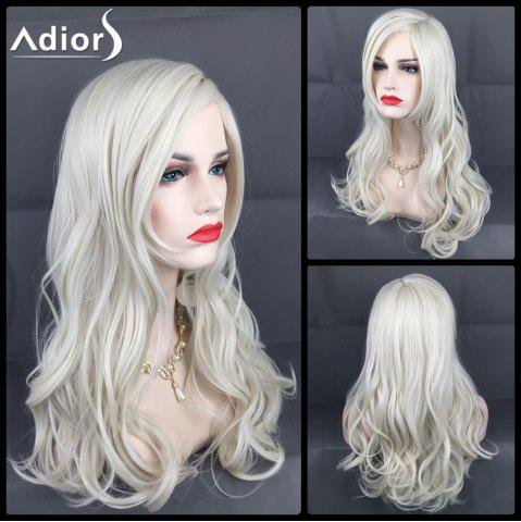 Discount Adiors Long Layered Side Parting Wavy Christmas Party Synthetic Wig