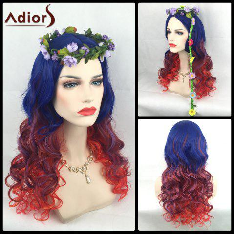 Outfits Adiors Long Colormix Side Parting Wavy Christmas Party Synthetic Wig