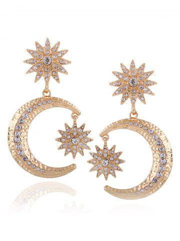 Shops Rhinestone Crescent Floral Earrings