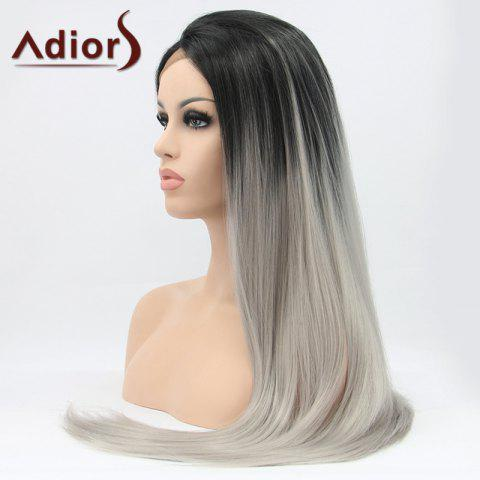 Best Adiors Hair Long Straight Lace Front Synthetic Wig - COLORMIX  Mobile