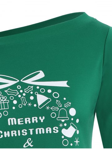 New Christmas Graphic Longline Tee - 4XL GREEN Mobile