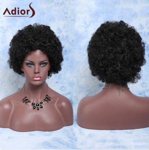 New Stylish Heat Resistant Fiber Afro Wig For Women BLACK BROWN