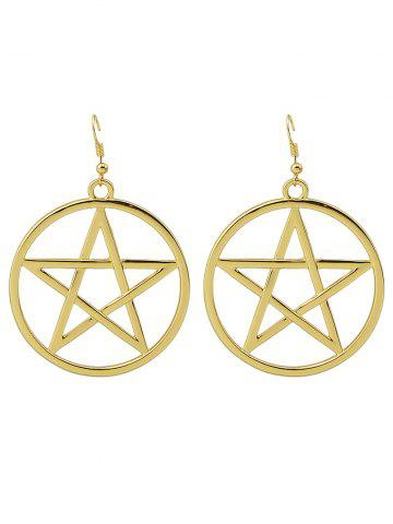 Cheap Circle Star Earrings GOLDEN