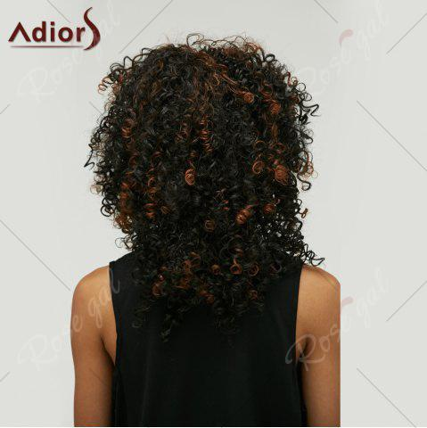 Online Adiors Highlight Medium Afro Curly Side Bang Synthetic Wig - COLORMIX  Mobile