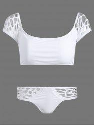 See Thru Cut Out Tankini Set