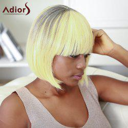 Boutique Short Straight Full Bang Gradient Women's Synthetic Hair Wig