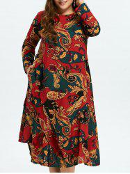 Tribal Print Linen Dress -