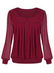 Ruched Sheer Blouse -