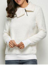 Thumb Hole Fleece Sweatshirt -