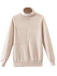 Patched High Neck Knitwear -