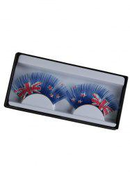 New Zealand Flag Pattern False Eyelashes -