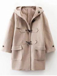 Hooded Oversized Woollen Blend Coat