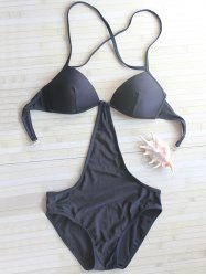 Halter Backless Swimwear - BLACK L