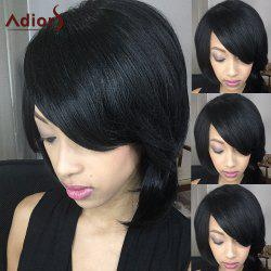 Adiors Short Fluffy Straight Oblique Bang Synthetic Wig