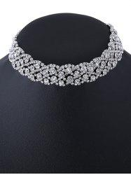 Rhinestone Wedding Choker Necklace
