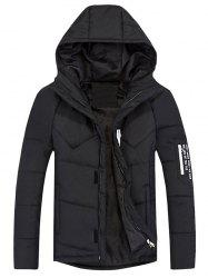 Zip Up Padded Hooded Jacket