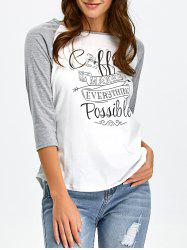 Raglan Sleeve Graphic Baseball Tee