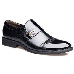 Metal Square Toe Formal Shoes -