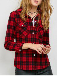 Plaid Hooded Flannel Shirt Hoodie