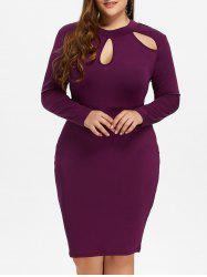 Cut Out Plus Size Bodycon Dress